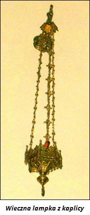 Wieczna lampka z kaplicy